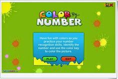 """""""Color by Number"""" inicia en el reconocimiento de números asociando cada uno de ellos a un color. En inglés, aunque el juego se sigue de forma sencilla e intuitiva, de manera que se introduce también en la expresión escrita y oral de los nombres de los colores y de las formas que se representan. Se puede empezar a partir de 3 años."""