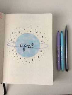 April title page. april title page bullet journal Bullet Journal School, April Bullet Journal, Bullet Journal Cover Page, Bullet Journal Aesthetic, Bullet Journal Notebook, Bullet Journal Ideas Pages, Bullet Journal Spread, Bullet Journal Layout, Bullet Journal Inspiration