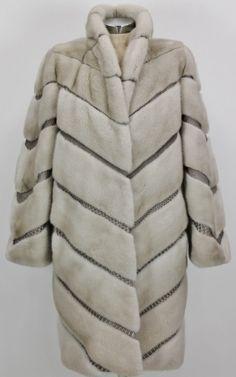 ELLIKER Mink coat with python inserts