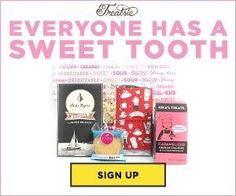 Have a sweet tooth? Join Treatsie today and save $10 off your 1st box of artisan sweets & treats delivered. Your 1st box is just $9.95 shipped with our exclusive promo code! http://www.findsubscriptionboxes.com/coupons/treatsie-coupon-save-10-off-your-1st-treatsie-box/?utm_campaign=coschedule&utm_source=pinterest&utm_medium=Find%20Subscription%20Boxes&utm_content=EXCLUSIVE%20Treatsie%20Coupon%3A%20Save%20%2410%20Off%20Your%201st%20Treatsie%20Box