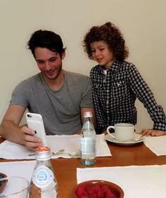 Dasha Zhukova's son Aaron Abramovich with Nick Brown