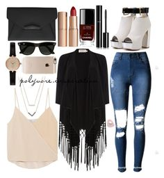 """Untitled #184"" by loveemyself on Polyvore featuring Soaked in Luxury, Chelsea Flower, Givenchy, Barbour, Michael Kors, Charlotte Tilbury, Chanel, Ray-Ban and Incase"