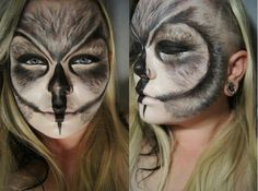 Owl makeup... I love this, but way too complex for our version