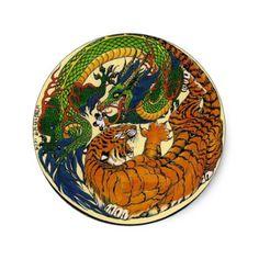 Dragon Tiger Tattoo, Tiger Dragon, Black Dragon, Tiger Artwork, Dragon Artwork, Dragon China, Earth Tattoo, Japanese Tattoo Symbols, Mythical Dragons