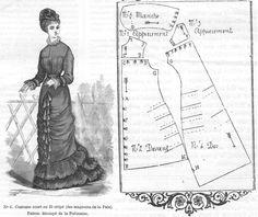 Journal des Demoiselles 1878: Polonaise pattern.