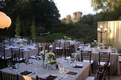 """Rancho Santa Ana Botanical Gardens, Claremont, CA.  A Wedding wire review: """"$12,500 for 106 people.  Included venue, changing area, chairs, aisle runner, alter table, guest book table, gift table, tables and chairs, all linens in choice of color, cocktail tables, centerpieces (pick of 5 kinds), candles, flower petals, patio heaters, china, hors d'oevres, buffet, cake, OPEN BAR, coffee/tea.""""  Stations food menu additional cost.  Inquire about catering pricing, beer/wine paring, hrs of usage."""