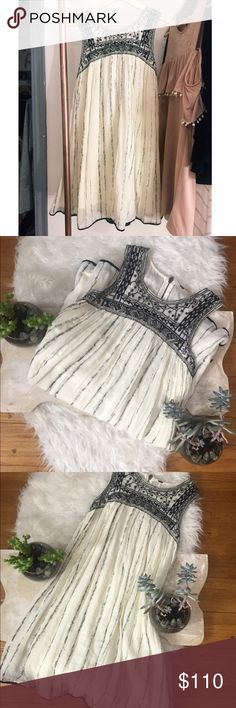Free people dress Embellished all on the top! This is sure to be so cute! I wore it during my senior pictures & loved it!! If you have any questions just ask! But that was the only time it was worn! :) 💓💓 Free People Dresses