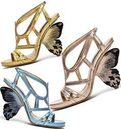 Butterfly heel shoes