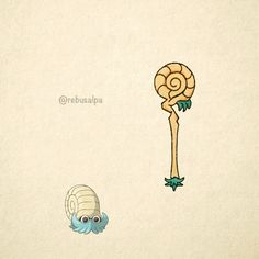 No. 138 - Omanyte. #pokemon #omanyte #scepter #pokeapon