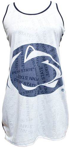 Rest and relax like a winner with this comfy, cute women's Penn State Nittany Lions nightgown. Nittany Lion, Cute Woman, Night Gown, Athletic Tank Tops, Comfy, Lions, Stylish, Tees, Big