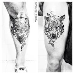 #nouvellerita #wolf #tattoo #matchingtattoos #linework #etching