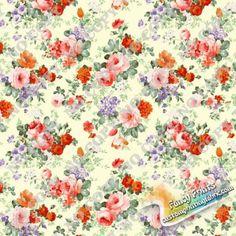 Wg082 Flower digital printed fabric, fancy custom print fabric