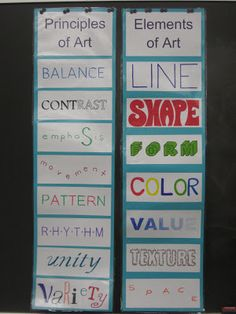 Great Elements & Principles : Miss Young's Art Room