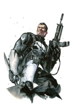 Punisher by Gabriele Dell'Otto. A lesson here for other artists: if you insist on the Punisher's white gloves and boots, do them like this.