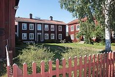 """Decorated Farmhouses of Hälsingland. A Hälsingland farm - """"Hälsingegård"""" - is a farm or former farm in Hälsingland, Sweden, with preserved cultural and historical value. Named as UNESCO World Heritage Site. Swedish Style, Swedish House, Vernacular Architecture, World Heritage Sites, Wall Murals, Interior And Exterior, Sweden, Photos, Farmhouse"""