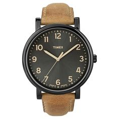 cf7c906d4830 Timex Originals Watch with Leather Strap - Black Tan T2N6772B Watches For  Men, Cool