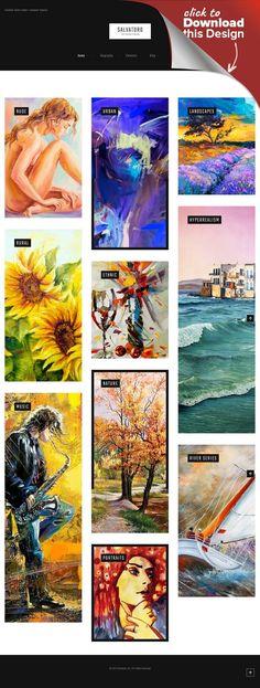 Tema de WordPress para Sitio de Galerías de arte Plantillas para CMS ...