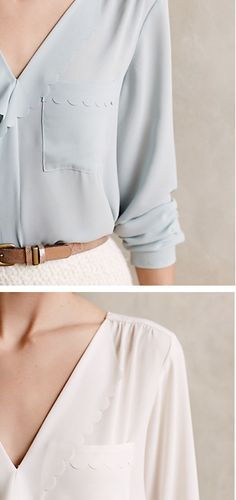 Scalloped Remi Blouse