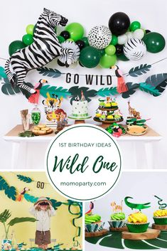 Great for Zoo//Safari//Forest Birthday Themed Parties Table Cover Luncheon /& Beverage Napkins Unique Animal Jam Party Bundle Dinner Plates