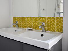 Bathroom diy splashback - create your own wallpaper splashback