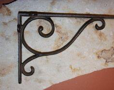 "Check out 6) Shelf Brackets, Victorian Shelf Brackets, 9 1/4"", Elegant Corbels, Cast Iron Shelf Brackets, Wall Brackets, Free Shipping, B-6 on wepeddlemetal"