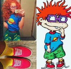 Chuckie Finster from 90s cartoon Rugrats