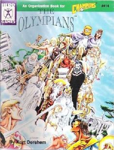 The Olympians edition) - The Olympians is a complete history of the Olympian gods, from their extra-dimensional origins to their re-emergence on Hero Games, Book Organization, Olympians, The Book, Board Games, Champion, Sci Fi, Comic Books, Activities