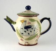 Blue Bird Teapot Small by Kevin Warren