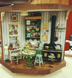 Échelle 1:12 3 mixte taille en bois Plateaux cartons Caisses Maison de Poupées Accessoires de magasin