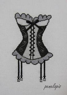 Penelopis' cross stitch freebies: corset/gorset