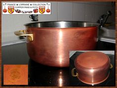 Here you see a Copper Stock Pot from SIGG Switzerland. Exterior copper and stainless steel inside.