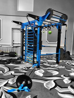 MoveStrong Nova-4 Functional Training Station. Customized with The Revolver Pull-up Bar, Stall bars, Dual Ground Rotational Trainer, Suspension hangers, staggered monkey bars, Globe Rail, Sliding pull-up, and Adjustable push-up bar