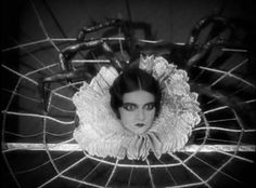 Edna Tichenor as Arachnida, the Human-Spider in The Show, directed by Tod Browning, 1927   theloudestvoice: