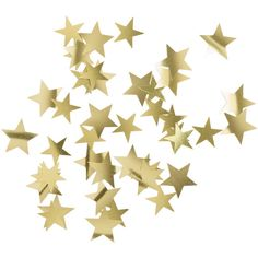 H&M Star-shaped decorations ($2.48) ❤ liked on Polyvore featuring home, home decor, fillers, backgrounds, decorations, stars, accessories, effects, gold and embellishment