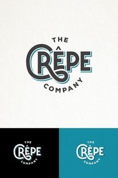HIP AND SIMPLE TYPOGRAPHY LOGO FOR THE CREPE COMPANY. Design by austinminded
