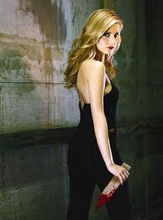 Buffy the Vampire Slayer (1997-2003). WB. Starring Sarah Michelle Gellar, Alyson Hannigan, Nicholas Brendan, Anthony Head, David Boreanaz, James Marsters and Charisma Carpenter (plus, Seth Green, Eliza Dushku, Juliet Landau, Kristine Sutherland, Michelle Trachtenberg, Amber Benson, Marc Blucas and Emma Caufield).