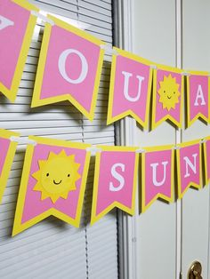 You are my sunshine banner, sunshine centerpiece, you are my sunshine birthday party by MindysPaperPiecing on Etsy