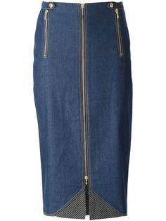 Christian Dior Vintage falda midi de denim