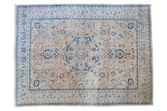 8x11 Vintage Tabriz Carpet