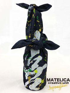 【Japonythm】デニム風呂敷 70cm ko・to・da・ma 「喜」 #和モダン #書 #言霊 #デザイン #Japonythm #MATELICA  #calligraphy #風呂敷 #アート #Japan #Tokyo #furoshiki #Japonism