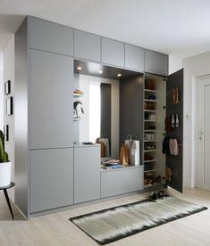 Home Room Design, Interior Design Living Room, Living Room Designs, House Design, Wardrobe Door Designs, Wardrobe Design Bedroom, Hall Furniture, Bedroom Furniture Design, Garderobe Design