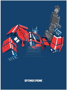 Tribute:Transformers - Optimus PrimeTransformers is an entertainment franchise created by Hasbro and Takara Tomy. Beginning with the Transformers toy line, the franchise centers on factions of transforming alien robots (often the Autobots and the Dece… Gi Joe, Transformers Generation 1, Transformers Collection, Transformers Optimus Prime, Cartoon Pics, Tmnt, Comic Art, Comic Book, Geek Art