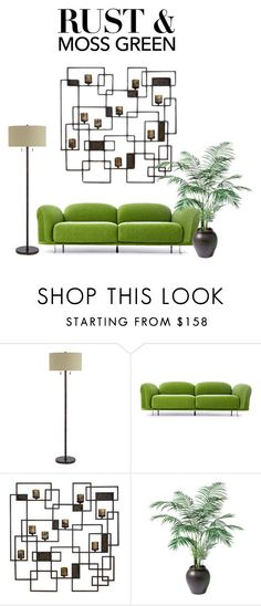 Color Challenge: Moss Green and Rust by adriana-claudia on Polyvore featuring interior, interiors, interior design, home, home decor, interior decorating, Moooi, Cal Lighting, Uttermost and Ethan Allen