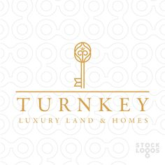 Logo for sale: Luxurious and fancy key design that incorporates a crown.
