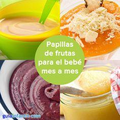 Mmm...a tu bebé le encantarán estas recetas de papillas http://www.guiainfantil.com/recetas/pures-para-bebes/papillas-de-fruta-para-bebes-mes-a-mes/