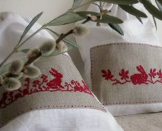 Easter bunnies.  Cross stitch charts for these designs at this Pin link