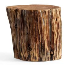 Solid wood side tables made of Patagonian Cypress. They are reclaimed as wood is not harvested from live trees, but from naturally fallen trees. No two are the same. Diameter is an average of 18 to 20. Height is 16. Due to the nature of these stumps, widths may vary. Height is consistent at 16. Multiple coats NATURAL finish with clear protective lacquer