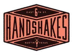 Logo for Austin's gourmet milkshake trailer: Handshakes.