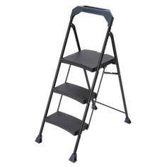 Gorilla Ladders 3-Step Steel Ladder with 250 lb. Load Capacity Type I Duty Rating-GLS-3HD - The Home Depot
