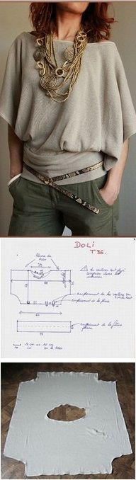Stylish Blouse – DIY gorgeous, but probably won't look this good on a plus sized or busty person like me....